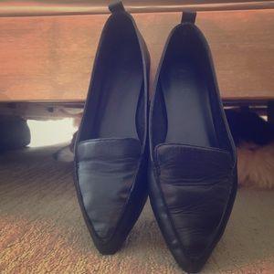 Aldo Black pointy toed loafers
